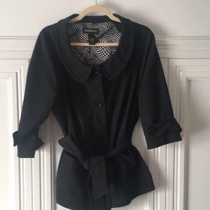 Lane Bryant SZ 16 ladies 3/4 sleeve black jacket